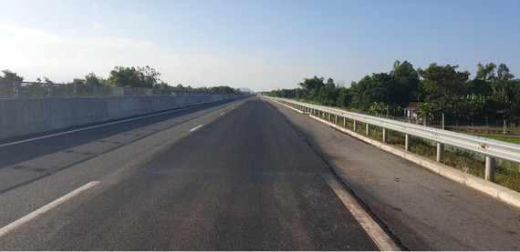 Đường cao tốc Đà Nẵng - Quảng Ngãi  sau khi hoàn thành sửa chữa