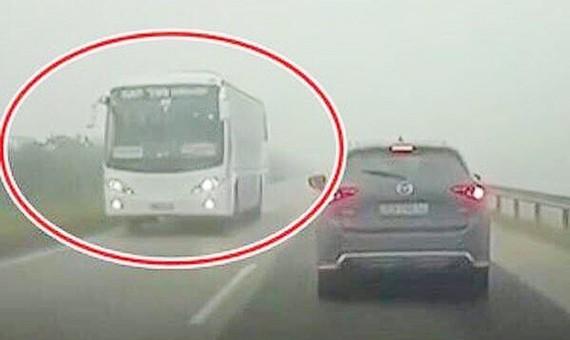 Xe khách ngược chiều trên cao tốc Hà Nội - Thái Nguyên hồi tháng 11-2018