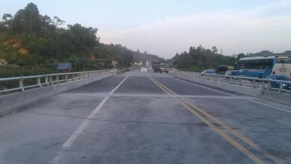 Cầu Ngòi Thủ đã được sửa chữa đảm bảo điều kiện khai thác