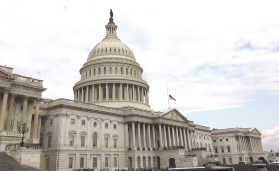 美國國會大廈。