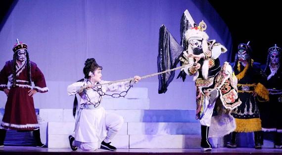 Một cảnh trong vở hát bội Sanh vi tướng, tử vi thần