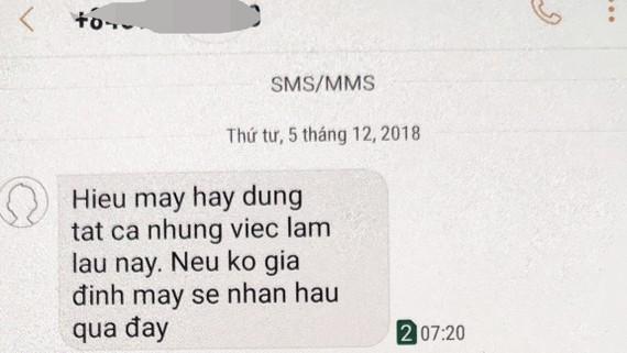 Kẻ lạ nhắn tin đe dọa Phó Bí thư Huyện ủy Nghĩa Hành