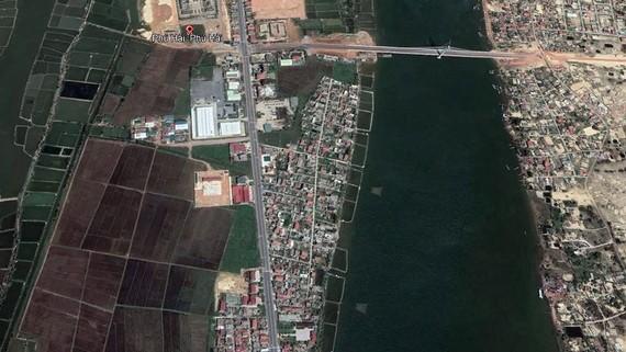 Phường Phú Hải, bìa trái, nhìn từ trên cao
