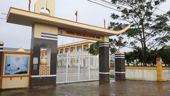 Trường THCS Duy Ninh nơi cháu N. bị cô T. bắt chịu phạt 231 cái tát