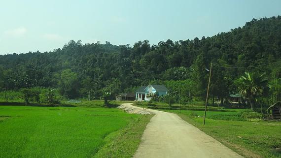 Đường bê tông dẫn vào nhà Chủ tịch UBND xã Xuân Hóa