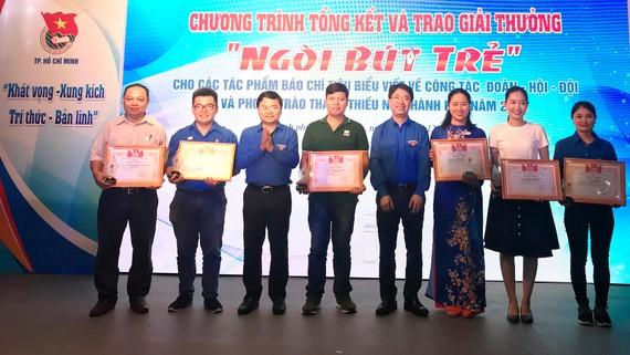 Các tác giả đoạt giải A giải thưởng Ngòi bút trẻ năm 2018