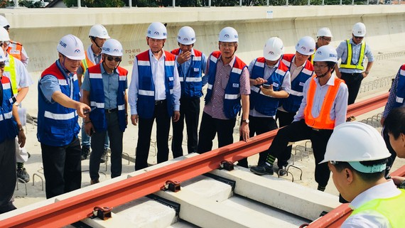Đoàn Ủy ban Kinh tế Quốc hội khảo sát thực tế tuyến metro Bến Thành - Suối Tiên