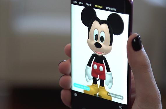 AREmoji nhân vật hoạt hình Disney tích hợp sẵn trong bộ đôi Galaxy S9 và S9+