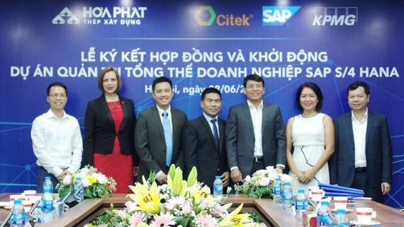 Các đơn vị ký kế hợp tác triển khai SAP S/4HANA