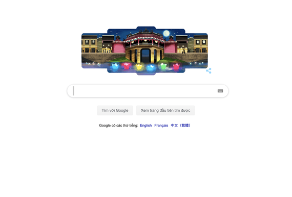 Hội An trên trang chủ Google Tiếng Việt