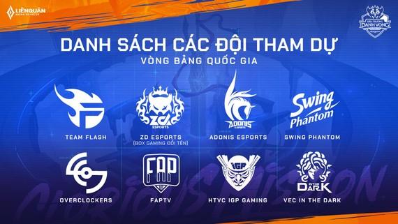 Các đội tham dự Liên Quân Việt Nam cho SEA Games 30