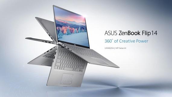 ASUS ra mắt dòng ZenBook UM433 và ZenBookFlip UM462 được trang bị vi xử lý thế mới từ AMD