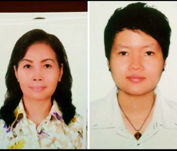同寓居本市新富郡的女嫌犯郑氏红花(1953,左)和女嫌犯范氏天河(1988)。