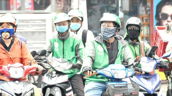Partner drivers of Grab. (Photo: SGGP)