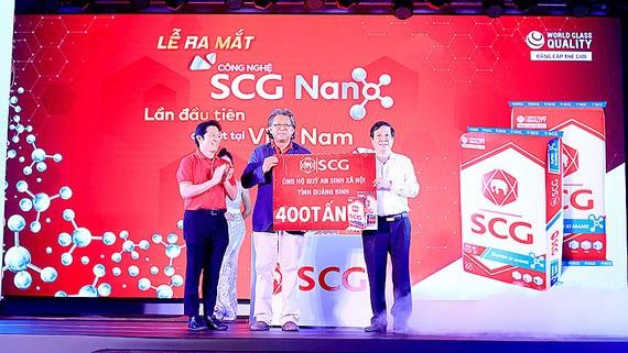 SCG tặng 400 tấn SCG Super xi măng xây dựng cơ sở hạ tầng tại tỉnh Quảng Bình