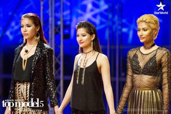 The three finalists for the 2017 Asia's Next Top Model