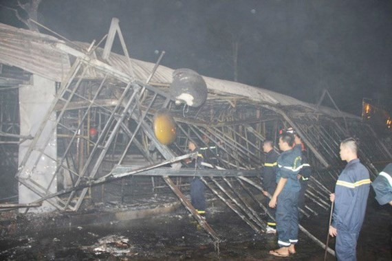 A fire broke out in the early morning of July 3 at Phu Quoc Night Market