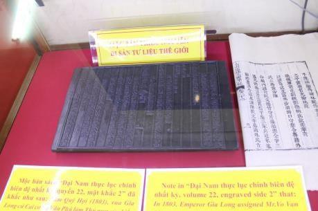 Nguyen dynasty's woodblocks on Hoang Sa, Truong Sa sovereignty displayed (Photo: VNA)