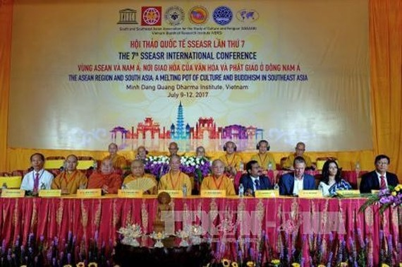 """The conference on """"The ASEAN Region and South Asia: A Melting Pot of Culture and Buddhism in Southeast Asia"""" is underway in HCM City until July 11. (Photo: VNA)"""