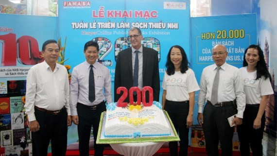 Book exhibition celebrating the 200th year in business for HarperCollins at Nguyen Hue Book Store in Ho Chi Minh City