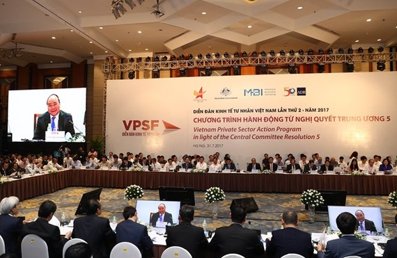 At the second Vietnam Private Sector Forum (Photo: VNA)
