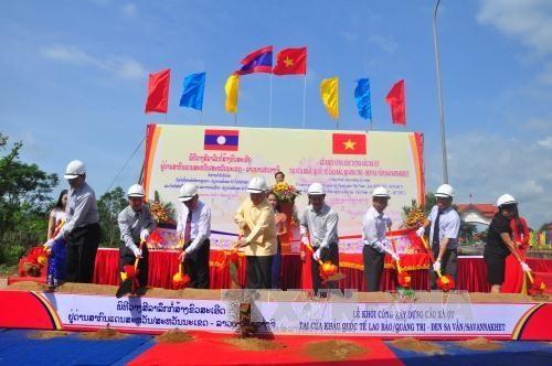 At the groundbreaking ceremony (Source: VNA)