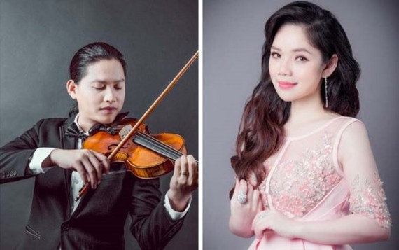 Violinist Anh Tu and his wife – opera singer Viet Dung