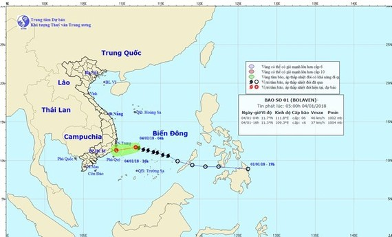 The move of storm Bolaven (Source: nchmf.gov.vn)