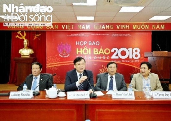 Scene at the press conference (Photo: baonhandao.vn)