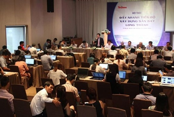 A seminar was held on March 28 to discuss ways to speed up the construction of the Long Thanh International Airport in Dong Nai. (Photo: www.tienphong.vn)
