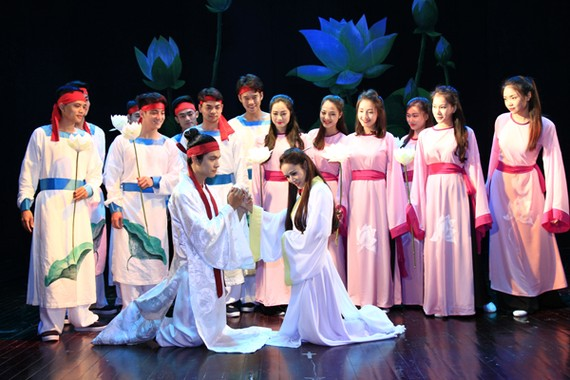 "A scene in the play ""Kieu""  (Photo: nhahatkichvietnam)"