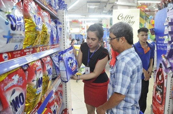 Eco-friendly products are sold at Co.opmart supermarkets. (Photo: Sggp)