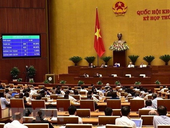 he National Assembly passed two resolutions and three bills on June 12. (Photo: VNA)
