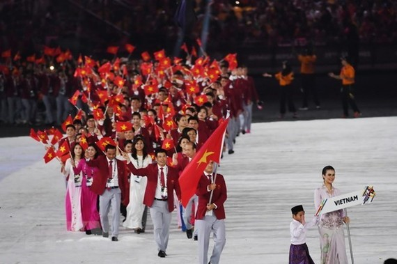 Vienamese athletes at a sports event (Source: AFP/VNA)