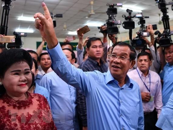Cambodian PM Hun Sen on July 29 (Source: AFP)