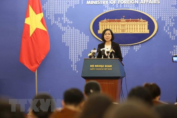 Vice Spokesperson of the Vietnamese Ministry of Foreign Affairs Nguyen Phuong Tra. (Source: VNA)