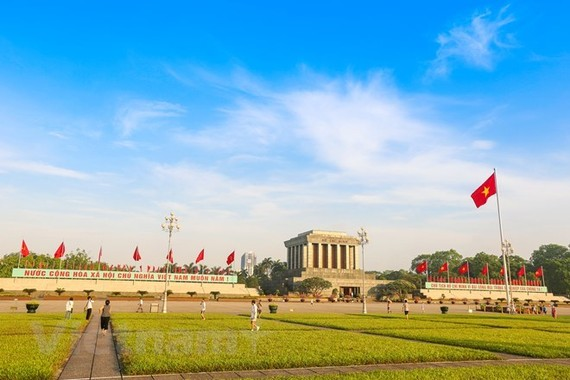 The Ho Chi Minh Mausoleum and Ba Dinh Square, where then President Ho Chi Minh read the Declaration of Independence announcing the foundation of the Democratic Republic of Vietnam - now the Socialist Republic of Vietnam, on September 2, 1945 (Photo: VNA)