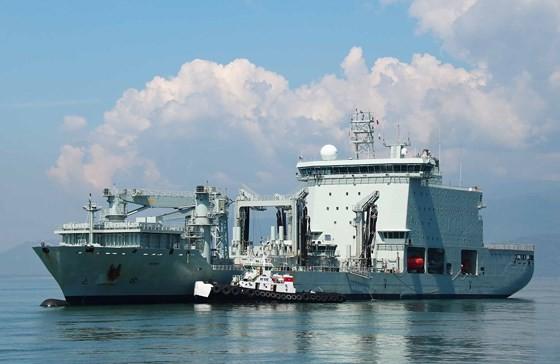 Ships of the Royal Canadian Navy docked in Da Nang