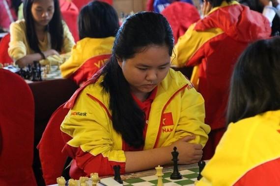 Vietnamese chess player Bach Ngoc Thuy Duong  (Photo: zing.vn)