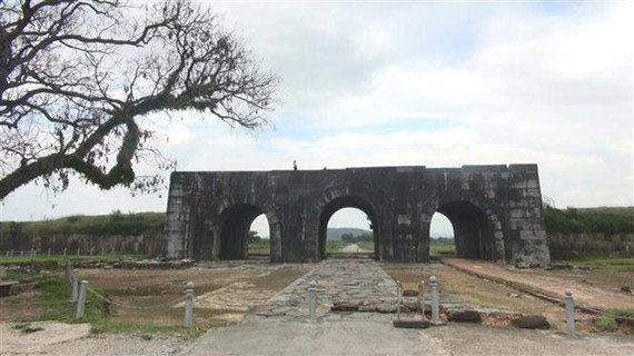 The southern gate of the Ho Dynasty Citadel (Photo: VNA)