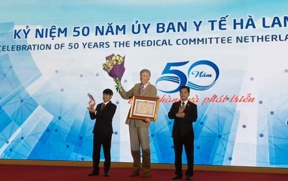 At the celebration to mark 50th founding anniversary of the Medical Committee Netherlands-Vietnam (Photo: VNA)