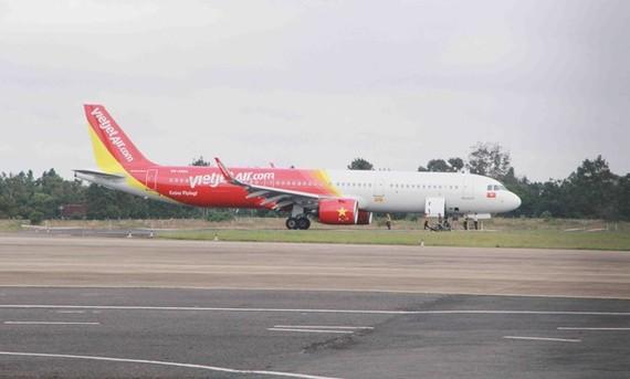 The plane VJ356 at Buon Ma Thuot Airport on November 30 (Photo: VNA)