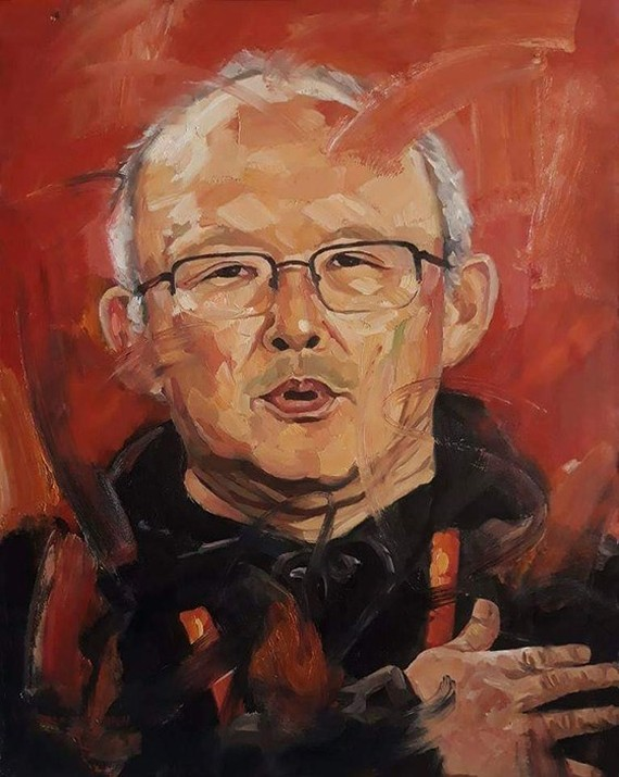 Oil portrait painting of coach Park Hang-seo to be auctioned for charity