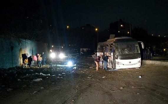 The scene of Friday's bombing (Photo: Twitter)