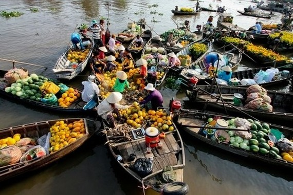 Cai Be floating market in Tien Giang province (Photo: vnexpress.net)
