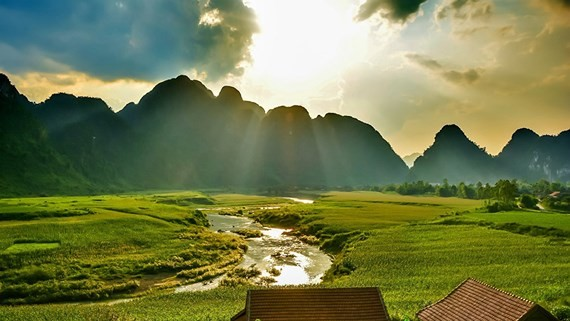 Tan Hoa commune in the central province of Quang Binh  is one of the places to record important scenes of the film. (Photo: Oxalis)