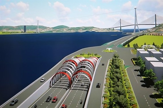 An architecture design of Cua Luc tunnel project by Transport Engineering Design Inc. (Source: Photo baoquangninh.vn)