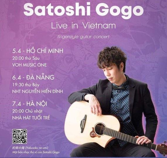 Japanese fingerstyle guitarist Satoshi Gogohas to perform in Vietnam