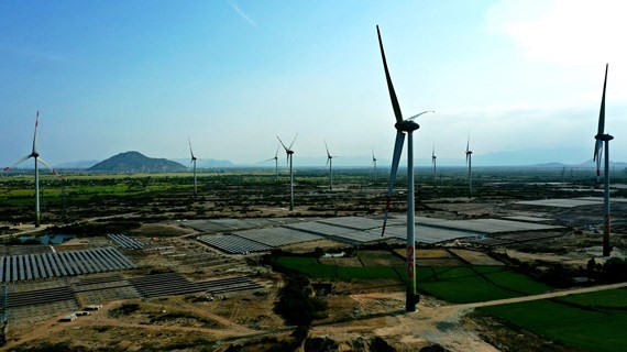 Windandsolarpower plants in the central province ofNinh Thuan