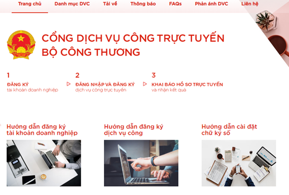 The Ministry of Industry and Trade has moved to put more public administrative services online towards a more simplified and transparent administration. (Photo: dichvucong.moit.gov.vn)
